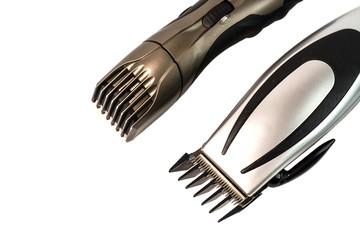 The machine for a hairstyle and hair trimmer. Hair clippers and