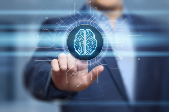 Digital Brain Artificial intelligence AI machine learning Business Technology Internet Network Concept