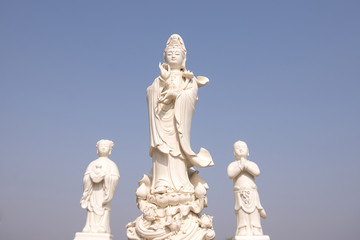 statue of Quan Yin goddess of mercy, kindness and compassion