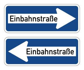 Einbahnstraße - Verkehrszeichen 220 links rechts