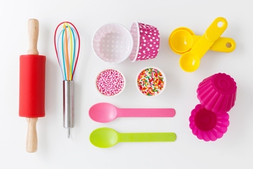 Baking utensils and cake decor