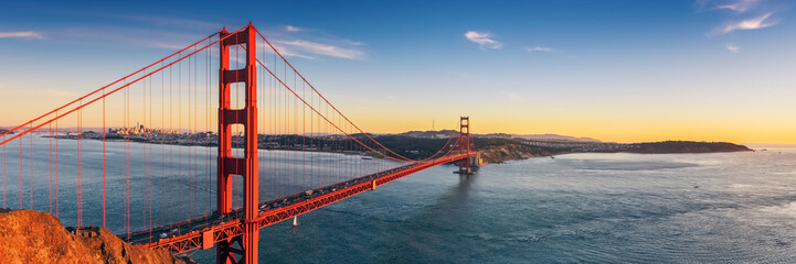 Fotobehang Amerikaanse Plekken Golden Gate bridge, San Francisco California