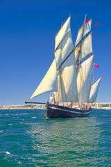 Sailing ship. Cruises. Yachting. Sailing