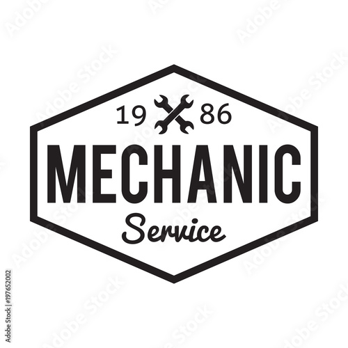 Mechanic service  Garage badge  Car repair logo
