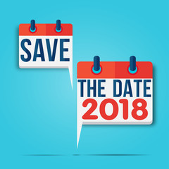 calendrier bulle : save the date 2018