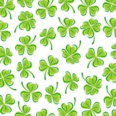 Leaf clover background. Vector