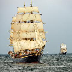 Sailing ships. Yachting. Sailing