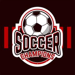 Soccer Logo badges. Logo Sports. Vector illustration of EPS10