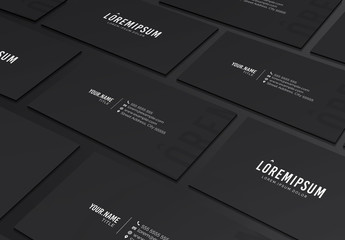 Grayscale Business Card Layout