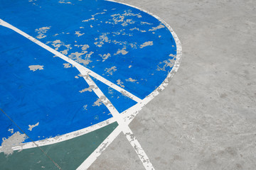 lines on concrete basketball court - sport field abstract background