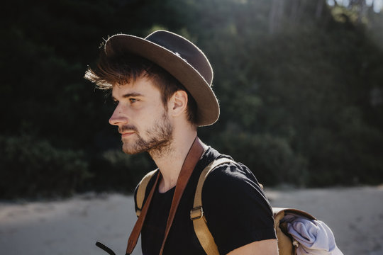Boy with the hat