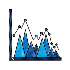 statistics triangle graph line point business plan report  vector illustration