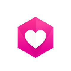 Heart vector icon, badge