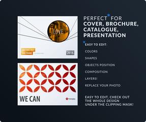 Presentation. Abstract vector set of modern horizontal templates