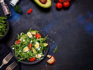 Spring Salad With Avocado, Tomato and Arugula