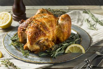 Homemade Rotisserie Chicken with Herbs
