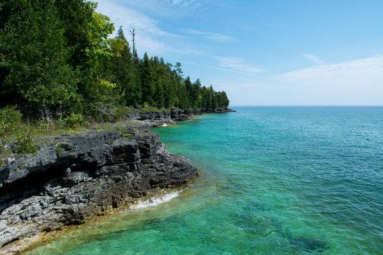 Lake Michigan shoreline in Door County, Wisconsin