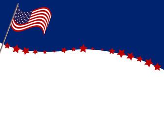 Vektor Hintergrund für den Independence Day mit amerikanischer Flagge. Eps 10 Vector Datei