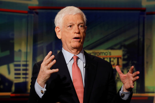 Mario Gabelli, founder, chairman, and CEO of Gabelli Asset Management Company, speaks during an interview with Maria Bartiromo on Fox Business Network in New York