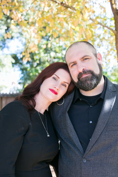 Portrait of mature couple standing together