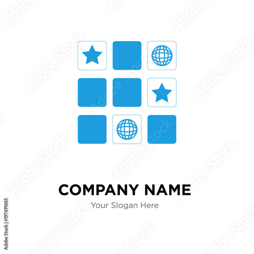 memory game company logo design template business corporate vector