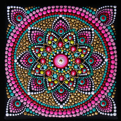 beautiful mandala hand painted