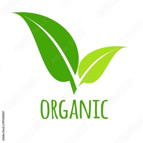 organic icon green leaf vector illustration isolated stock image rh fotolia com
