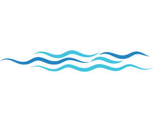 Water wave vector illustration design
