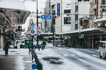 京都 冬景色 街並み