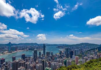 ビクトリアピークから望む香港の風景