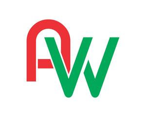 AW initial typography typography typeface typeset logotype alphabet image vector icon