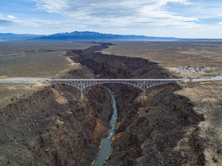 Rio Grande Gorge and Bridge near Taos, New Mexico