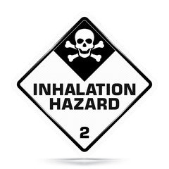 International Inhalation Hazard Class 2 Symbol,White Warning Dangerous icon on white background, Attracting attention Security First sign, Idea for,graphic,web design,Vector and illustration,EPS10.