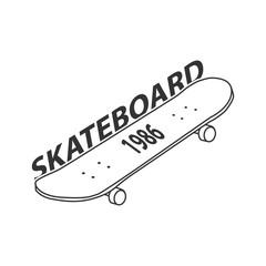 Skateboard Logo Vector Template