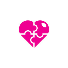 Puzzle Love Logo Icon Design
