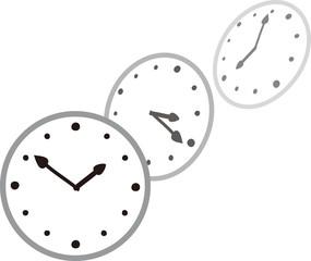時の流れのイメージ、時計