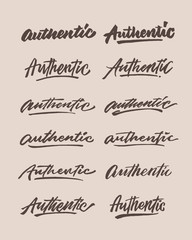 authentic roughen vintage hand lettering typography phrase