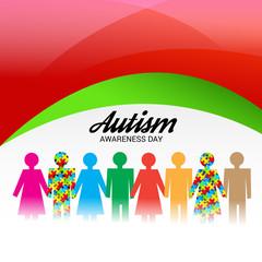 Poster de jardin Arc en ciel Autism Awareness Day.