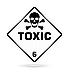 International Toxic  Class 6 Symbol,White Warning Dangerous icon on white background, Attracting attention Security First sign, Idea for,graphic,web design,Vector and illustration,EPS10.