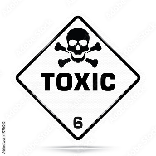 International Toxic Class 6 Symbolwhite Warning Dangerous Icon On