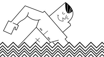 swimmer, vector illustration