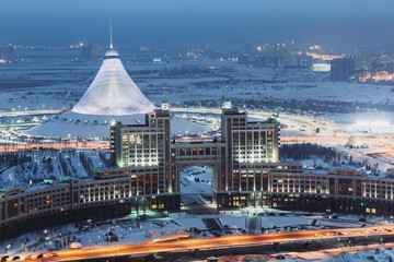 View from above on Khan Shatyr in Astana, Kazakhstan
