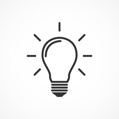 Vector image of light bulb icon.