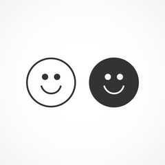 Vector image of smiley icon.