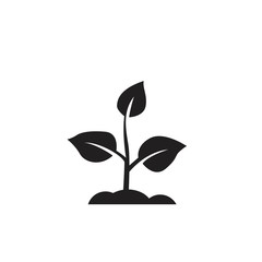 plant icon. sign design