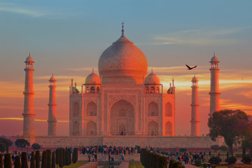 Taj Mahal at sunset - Agra, India Fototapete
