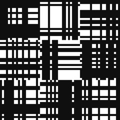 Patchwork pattern. Striped background. Textile monochrome print. Black and white seamless swatch.