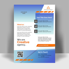 Creative flyer design. Corporate template layout presentation. Business concept.