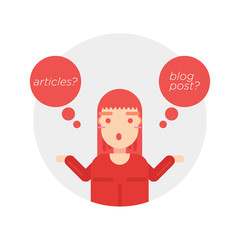 Blog post growth management vector logo icon illustration