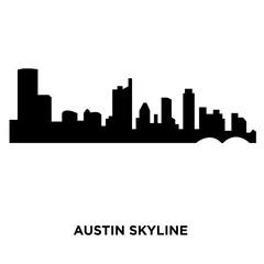 austin skyline silhouette on white background, vector illustration